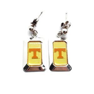 .999 Fine Silver Tennessee Volunteers Earrings
